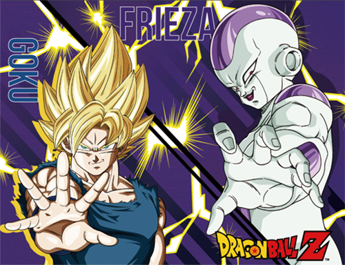 Dragon Ball Z - Super Saiyan Goku & Frieza Sublimation Throw Blanket, an officially licensed product in our Dragon Ball Z Blankets & Linen department.