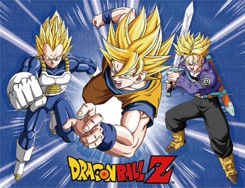 Dragon Ball Z - Goku, Trunks & Vegeta Super Saiyan Forms Sublimation Throw Blanket, an officially licensed product in our Dragon Ball Z Blankets & Linen department.
