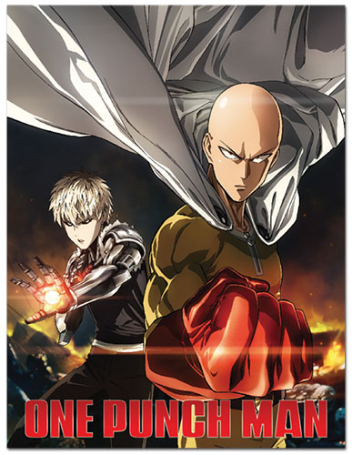 One Punch Man - Saitama & Genos Sublimation Throw Blanket, an officially licensed product in our One-Punch Man Blankets & Linen department.