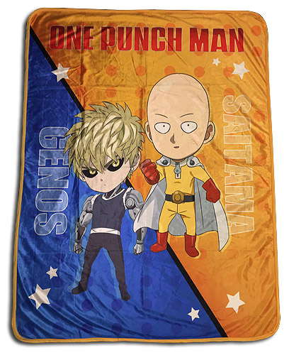 One Punch Man - Sd Group Sublimation Throw Blanket, an officially licensed product in our One-Punch Man Blankets & Linen department.