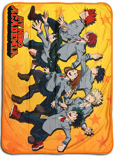 My Hero Academia - Group Run Sublimation Throw Blanket, an officially licensed product in our My Hero Academia Blankets & Linen department.