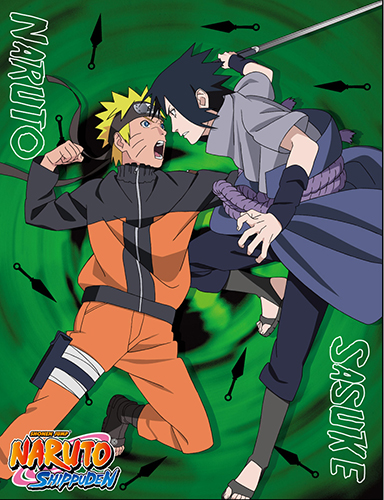 Naruto Shippuden - Sasuke Vs Naruto Sublimation Throw Blanket, an officially licensed product in our Naruto Shippuden Blankets & Linen department.