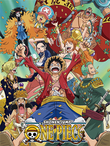 One Piece - Group W/ Money Sublimation Throw Blanket officially licensed One Piece Blankets & Linen product at B.A. Toys.