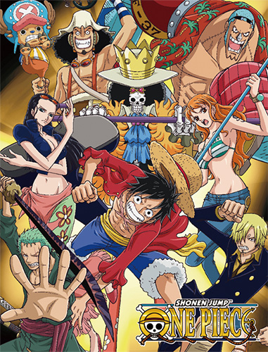 One Piece - Group #2 Sublimation Throw Blanket officially licensed One Piece Blankets & Linen product at B.A. Toys.
