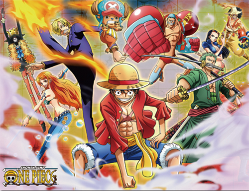 One Piece - Group #3 Sublimation Throw Blanket officially licensed One Piece Blankets & Linen product at B.A. Toys.
