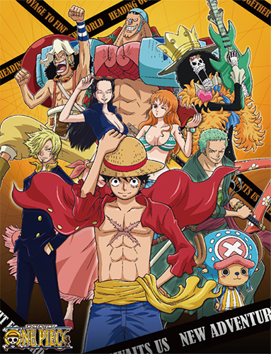 One Piece - Group #4 Sublimation Throw Blanket, an officially licensed product in our One Piece Blankets & Linen department.