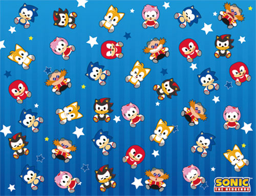 Sonic The Hedgehog - Sd Group Sublimation Throw Blanket officially licensed Sonic Blankets & Linen product at B.A. Toys.