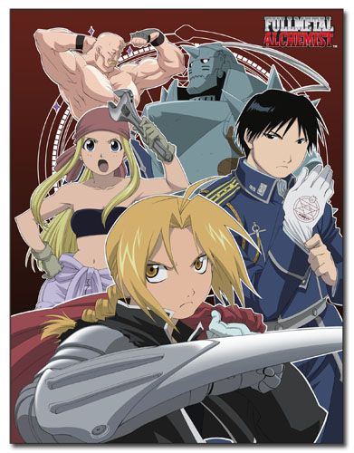 Fullmetal Alchemist - Group 1 Sublimation Throw Blanket officially licensed Fullmetal Alchemist Blankets & Linen product at B.A. Toys.
