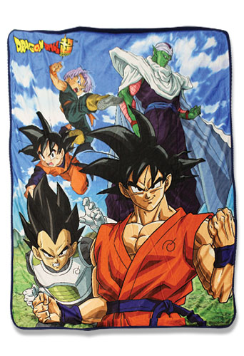 Dragon Ball Super - Group 4 Sublimation Throw Blanket, an officially licensed product in our Dragon Ball Super Blankets & Linen department.