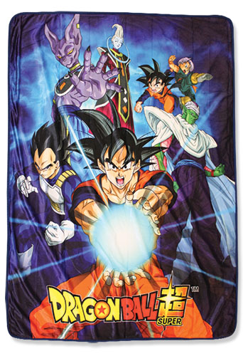 Dragon Ball Super - Group 6 Sublimation Throw Blanket, an officially licensed Dragon Ball Super product at B.A. Toys.