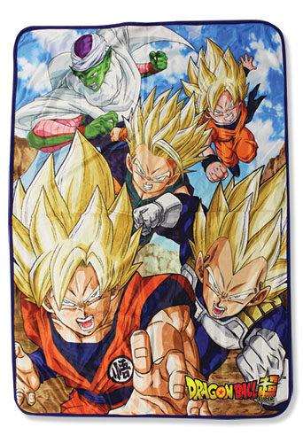 Dragon Ball Super - Group 8 Sublimation Throw Blanket, an officially licensed product in our Dragon Ball Super Blankets & Linen department.