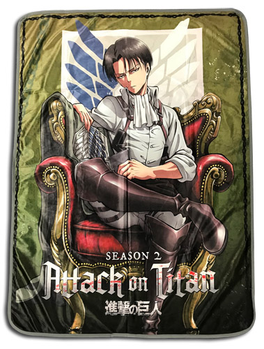 Attack On Titan - Levi Sublimation Throw Blanket