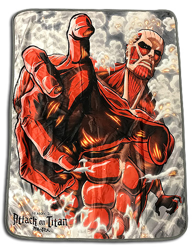 Attack On Titan - Titan Sublimation Throw Blanket officially licensed Attack On Titan Blankets & Linen product at B.A. Toys.