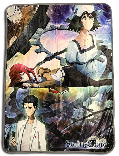 Stein;S Gate - Keyart Sublimation Throw Blanket officially licensed Stein;S Gate Blankets & Linen product at B.A. Toys.