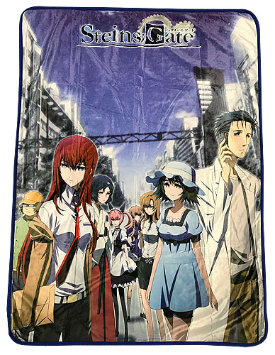 Steins;Gate - Keyart #2 Sublimation Throw Blanket officially licensed Stein;S Gate Blankets & Linen product at B.A. Toys.