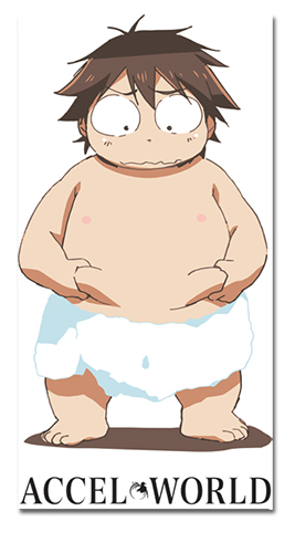 Accel World - Haruyuki In Towel, an officially licensed Accel World product at B.A. Toys.