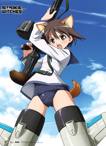 Strike Witches Yoshika With Gun Wall Scroll, an officially licensed product in our Strike Witches Wall Scroll Posters department.