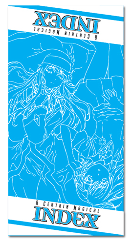 A Certain Magical Index Index Towel officially licensed product at B.A. Toys.