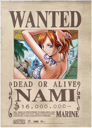 One Piece Nami Wanted Wall Scroll, an officially licensed product in our One Piece Wall Scroll Posters department.