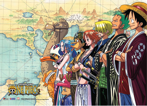 One Piece Crew Wall Scroll officially licensed product at B.A. Toys.
