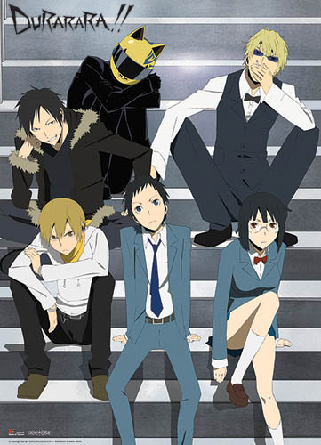 Durarara!! On The Staircase Wall Scroll, an officially licensed Durarara Wall Scroll