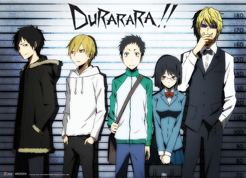 Durarara!! Line Up Wall Scroll, an officially licensed product in our Durarara!! Wall Scroll Posters department.