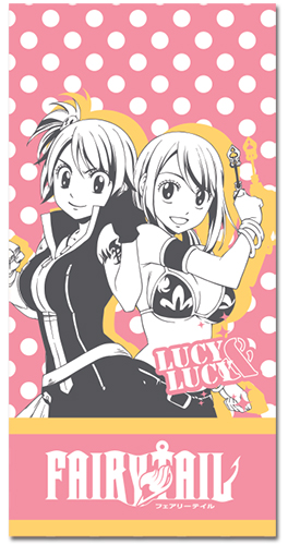 Fairy Tail - Lucy & Lucy Towel, an officially licensed Fairy Tail product at B.A. Toys.