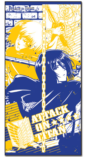 Attack On Titan - Mikasa & Armin Towel, an officially licensed product in our Attack On Titan Towels department.