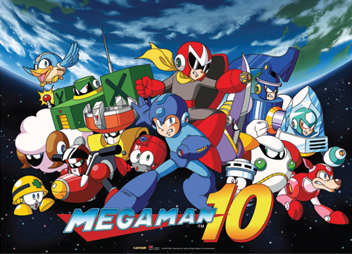 Megaman 10 Key Art Wallscroll, an officially licensed product in our Mega Man Wall Scroll Posters department.