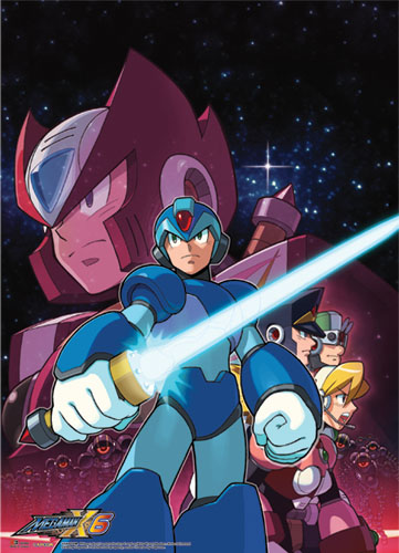 Megaman X Crew Wallscroll, an officially licensed product in our Mega Man Wall Scroll Posters department.