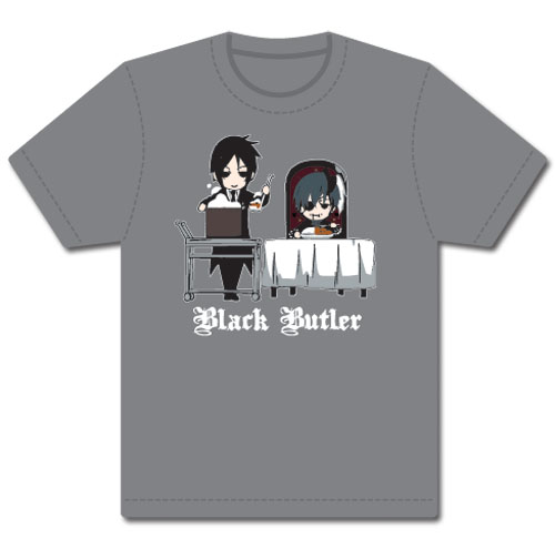 Black Butler Sebastain & Ciel T-Shirt L, an officially licensed Black Butler product at B.A. Toys.