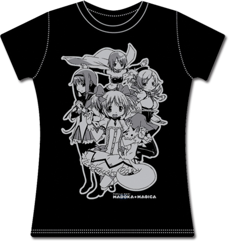 Madoka Magica Group Jrs T-Shirt M officially licensed Madoka Magica T-Shirts product at B.A. Toys.