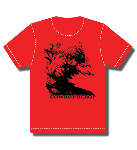 Cowboy Bebop Spike In Motion T-Shirt S, an officially licensed Cowboy Bebop product at B.A. Toys.