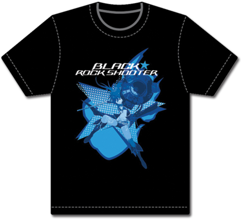 Black Rock Shooter Black Rock Shooter T-shirt L officially licensed Black Rock Shooter T-Shirts product at B.A. Toys.