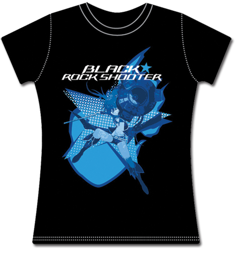 Black Rock Shooter Black Rock Shooter Jrs T-shirt M, an officially licensed Black Rock Shooter product at B.A. Toys.