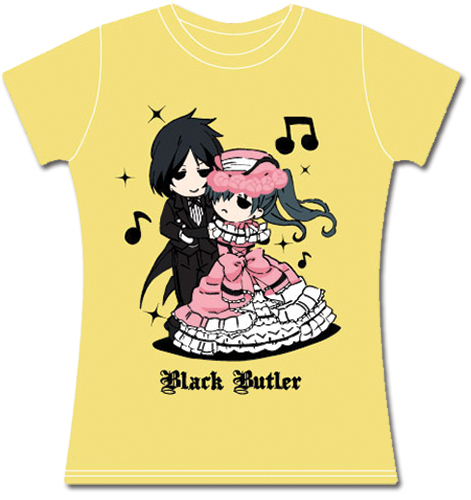 Black Butler Sebastian & Ciel Dancing Jrs T-Shirt L, an officially licensed product in our Black Butler T-Shirts department.