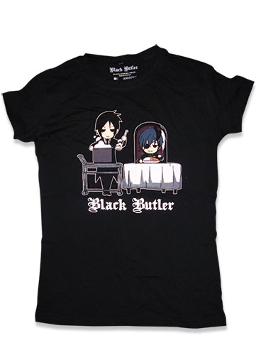 Black Butler Group Eating Jrs T-Shirt XL, an officially licensed Black Butler product at B.A. Toys.