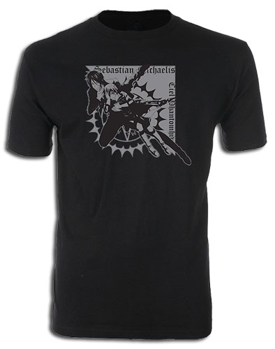 Black Butler - Sebastian & Ciel Mens Screen Print T-Shirt XL, an officially licensed Black Butler product at B.A. Toys.