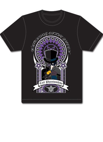 Black Butler Ciel Watch Dog Of The Queen T-Shirt L, an officially licensed product in our Black Butler T-Shirts department.