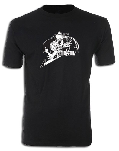 Fairy Tail - Leaping Natsu Screen Print T-Shirt L, an officially licensed product in our Fairy Tail T-Shirts department.