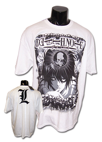 Death Note White L T-shirt M officially licensed Death Note T-Shirts product at B.A. Toys.