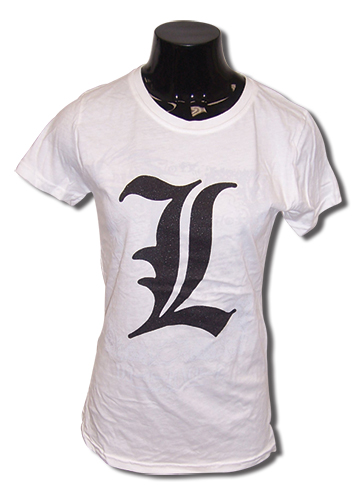 Death Note L Emblem Jrs T-Shirt L, an officially licensed Death Note product at B.A. Toys.