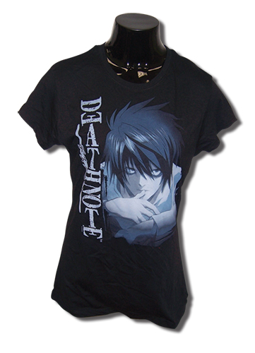 Death Note L Stare Jrs T-Shirt L, an officially licensed product in our Death Note T-Shirts department.