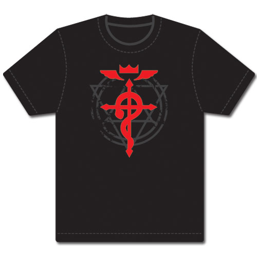 Fullmetal Alchemist Brotherhood Flamel Cross T-Shirt M officially licensed Fullmetal Alchemist T-Shirts product at B.A. Toys.
