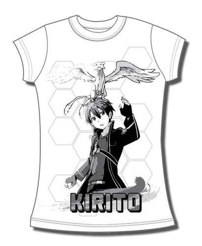 Sword Art Online Kirito & Pino Jrs T-Shirt L officially licensed Sword Art Online T-Shirts product at B.A. Toys.
