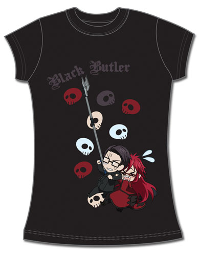 Black Butler Spears & Grell Jrs T-Shirt L, an officially licensed Black Butler product at B.A. Toys.