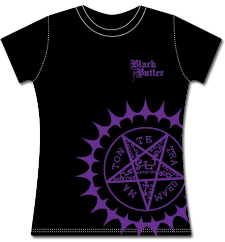 Black Butler Black Butler Purple Phantonhive Jrs T-Shirt L, an officially licensed Black Butler product at B.A. Toys.