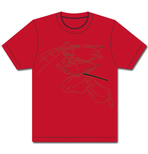 Inuyasha Leaping Inuyasha Outline T-Shirt L, an officially licensed product in our Inuyahsa T-Shirts department.