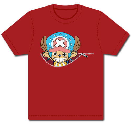 One Piece Chopper & Zipper T-Shirt S, an officially licensed product in our One Piece T-Shirts department.