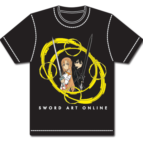 Sword Art Online Kirito & Asuna Circles Ii T-Shirt L officially licensed Sword Art Online T-Shirts product at B.A. Toys.